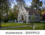 Old Stone Church In Cemetery ...
