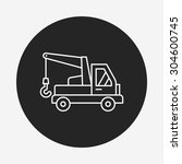 cargo truck line icon | Shutterstock .eps vector #304600745