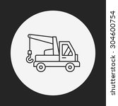 cargo truck line icon | Shutterstock .eps vector #304600754
