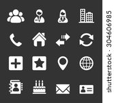 contact icon set  vector eps10 | Shutterstock .eps vector #304606985
