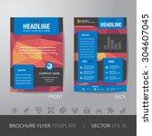 polygon business brochure flyer ... | Shutterstock .eps vector #304607045