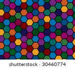 colorful hexagonal mosaic with... | Shutterstock .eps vector #30460774