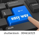 easy way button on computer... | Shutterstock . vector #304616525