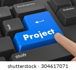 project management button on... | Shutterstock . vector #304617071