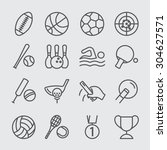 sports world line icon | Shutterstock .eps vector #304627571