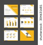 yellow vector business... | Shutterstock .eps vector #304631681