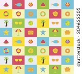 a set of colorful vector icons... | Shutterstock .eps vector #304633205