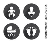 baby infants icons. toddler boy ... | Shutterstock .eps vector #304649615