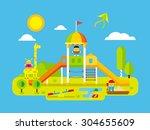 Childrens Playground. Play Kid...