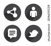 human person and share icons.... | Shutterstock .eps vector #304659239
