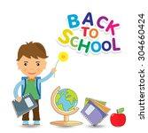back to school design. vector...   Shutterstock .eps vector #304660424