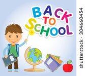 back to school design. vector...   Shutterstock .eps vector #304660454