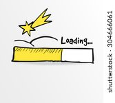loading bar with falling star ...