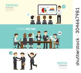 business design conference... | Shutterstock .eps vector #304667981