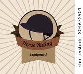 horse riding digital design ...   Shutterstock .eps vector #304672901
