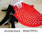 flamenco accessories  shoes ...   Shutterstock . vector #304679951