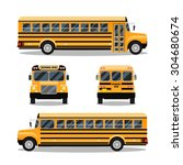 school bus. transportation and... | Shutterstock .eps vector #304680674