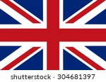 flag of united kingdom   vector | Shutterstock .eps vector #304681397