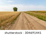 Landscape Of A Road To A Lone...