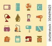set of household appliances... | Shutterstock . vector #304694825