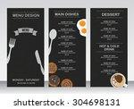 restaurant menu  infographics... | Shutterstock .eps vector #304698131