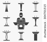 vector set of tribunes icons.... | Shutterstock .eps vector #304701515