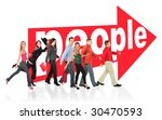 different people follow the... | Shutterstock . vector #30470593
