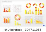 collection of modern  isolated  ... | Shutterstock .eps vector #304711055