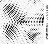 abstract dotted halftone effect ... | Shutterstock .eps vector #304711109