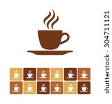 coffee cup  coffee cup icon ... | Shutterstock .eps vector #304711121