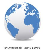europe  north and south america ... | Shutterstock .eps vector #304711991