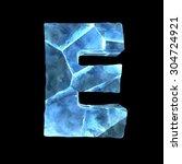 ice alphabet  letter e  | Shutterstock . vector #304724921