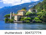 romantic lago di como   villa... | Shutterstock . vector #304727774