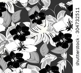 floral seamless pattern  ... | Shutterstock .eps vector #304732511