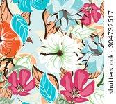floral seamless pattern  ... | Shutterstock .eps vector #304732517