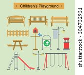 playground design over white... | Shutterstock .eps vector #304732931