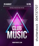 party flyer with dj lineup... | Shutterstock .eps vector #304737707