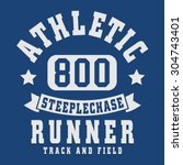 athletic sport running... | Shutterstock .eps vector #304743401