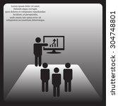 presenting increment  | Shutterstock .eps vector #304748801
