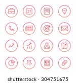 business icons | Shutterstock .eps vector #304751675