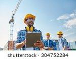 business  building  industry ... | Shutterstock . vector #304752284