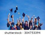 high school students graduates... | Shutterstock . vector #304753394