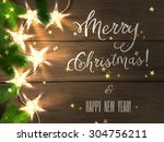 holiday design   merry... | Shutterstock .eps vector #304756211