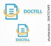 vector document file logo | Shutterstock .eps vector #304757495