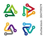design triangle logo element.... | Shutterstock .eps vector #304759079