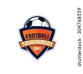 football logo design   soccer ... | Shutterstock .eps vector #304768559