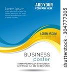 professional business design... | Shutterstock .eps vector #304777205