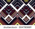 geometric ethnic pattern design ... | Shutterstock .eps vector #304780889