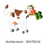 vector illustration of cow with ... | Shutterstock .eps vector #30478216