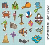 hand drawn stickers   at the... | Shutterstock .eps vector #30478420